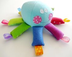 (9) Name: 'Sewing : Octopus Softie Toy with Ribbons