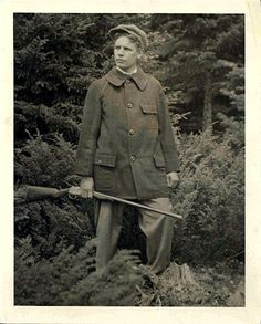 formfollowsfunctionjournal: Leon Leonwood Bean models his first Maine Safety Hunting Coat sometime before WWI