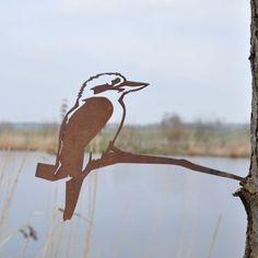 Metalbird fugl i cortenstål - latterfugl