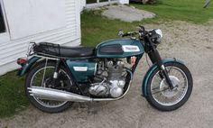 1969 Triumph Trident vintage british motorcycle http://hooniverse.com/2010/03/19/roadside-discoveries-nickwackett-garage-a-vintage-british-bike-shop/