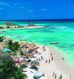 Pláž Del Carmen-Mexiko