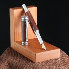 Handmade Cocobolo Fountain Pen w/ Noodlers Ink Well by DaggettPens