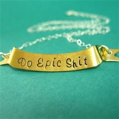 Do Epic Shit Banner Necklace - Spiffing Jewelry