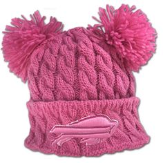 2e7c349589c Bills Pink Double Pom Pom Hat Packers Baby