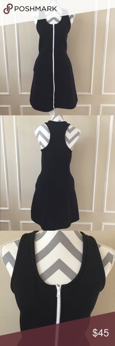 "Kate Spade Saturday Scuba Dress Kate spade scuba dress, size L, 35.5"" length, underarm to underarm 18.5"", waist 16"", it has pockets. kate spade Dresses"