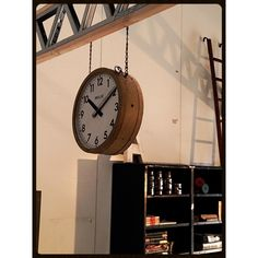 <p>Industrial double side clock from the 30s. Manufacturer…