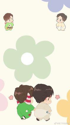 Cartoon Wallpaper, Iphone Wallpaper, Chibi Boy, Couple Wallpaper, Chinese Boy, Anime Couples, My Images, Memes, Anime Art