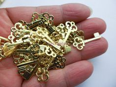 30 pcs small golden color reproduction antique by DiySupplyers