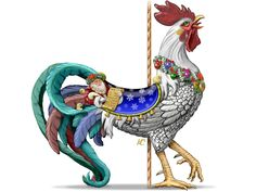 Christmas Rooster | Historic Carousel & Museum, Albany Oregon