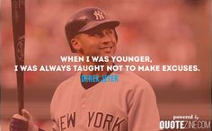 The 30 Best Derek Jeter Quotes On Success and Winning. The greatest collection of Derek Jeter Quotations Ever. Success, Winning, Dreams, Practice and more. Famous Baseball Quotes, Basketball Quotes, Softball Quotes, Senior Quotes, Derek Jeter Quotes, Prison Inmates, Volleyball Shirts, Clever Quotes, New York Yankees