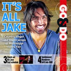 Country singer Jake Owen to wrap up Mississippi Valley Fair.