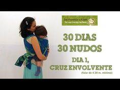 """DE MONITOS Y RISAS: día 1 del reto """"30 días 30 nudos"""", un nudo sencillo para empezar con el fular. http://blog.monitosyrisas.com/"""
