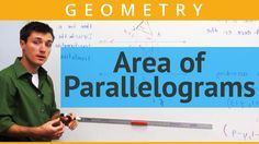 How to find the formula for calculating the area of parallelograms using the area of a rectangle.