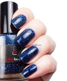 BEST SELLER. Dark blue nail polish. by urbanlacquer on Etsy
