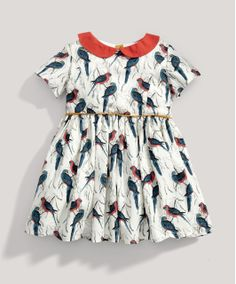 Girls Limited Edition All Over Printed Bird Dress - New In - Mamas & Papas