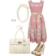 *Polyvore* I love these accessories (Of course!). I even like the dress but I don't think I could pull it off and wear it. I think it would look darling on @J  NICOLE though!