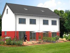 #Doppelhaushälfte Duo II 146 - Mehr Infos unter: www.herwig-haus.de #Hausbau #Massivhaus