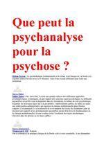 Que peut la psychanalyse pour la psychose ? ( II )   Frans Tassigny   Un lien fascinant entre la schizophrénie et l'autisme : Les chercheurs montrent que les réseaux génétiques mutés identifiés sont très similaires entre les 2 maladies. Le Pr Dennis Vitkup, professeur agrégé au service d'informatique biomédicale, auteur principal de l'étude, confirme : «Cela montre à quel point les réseaux de l'autisme et la schizophrénie génétiques sont étroitement liés».