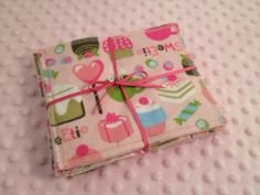 Ready to ship- 12. Flannel Cloth Wipes Baby Wipes Set of 12 -Reusable/Washable Wipes-Girls/Family -Sweets on Etsy, $9.50
