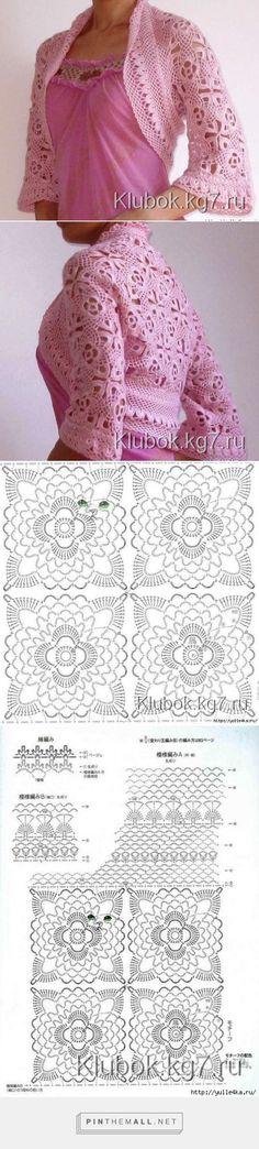 Trendy Ideas for crochet shrug diagram beautiful Poncho Au Crochet, Crochet Jacket, Crochet Cardigan, Irish Crochet, Bolero Crochet, Crochet Shrugs, Crochet Vests, Russian Crochet, Crochet Tops