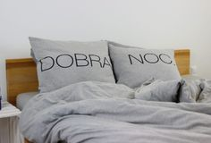 Szara dzianinowa pościel DOBRANOC Milli Home Bed Pillows, Pillow Cases, Bedroom, House, Design, Ideas, Pillows, Home