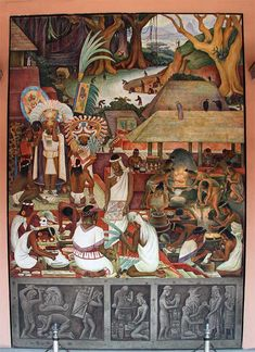 Diego Rivera - Mural: The Zapotec and Mixtec Civilization, Palacio Nacional de Mexico