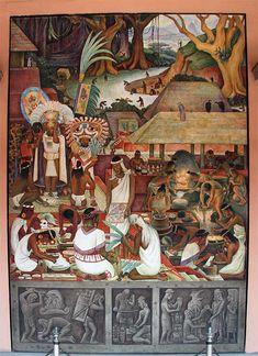 Diego Rivera - Mural: The Zapotec and Mixtec Civilization, Palacio Nacional de Mexico