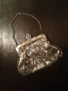 My vintage 1950s whiting and Davis mesh evening bag