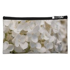 Small pocket white flower cosmetic bag - photography gifts diy custom unique special