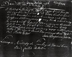 """1756 """"Living in New Jersey at Cranbery at Indian Town Place Called Bethel"""" w additional letters through 1760."""