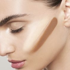 Contouring: the New Dimension Face Palette makes it easy. Apply the deeper contour shade from midpoint of ear to midway under cheekbones, Then apply the highlighter just above that, highlighting the cheekbone. Oh, and don't forget to blend