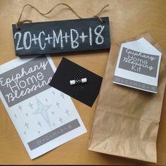 Epiphany Home Blessing Kits (Update for 2021 & Beyond!) Catholic Crafts, Catholic Kids, Catholic Catechism, 12 Days Of Christmas, Christmas Crafts, Christmas Stuff, Christmas Tree, Ccd Activities, Epiphany Crafts