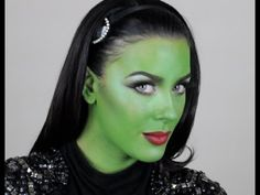 Elphaba Makeup Tutorial- I used this for Halloween and it turned ...