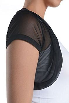 Fashion Secrets Short Sleeves Sheer Chiffon Bolero Shrug Short Cardigan