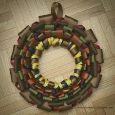 Easy to make Ribbon wreath for fall.