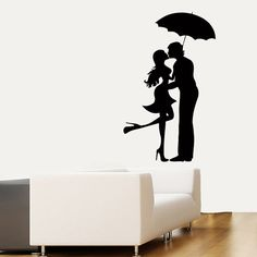 Wall Decals Lovers Man Woman Romantic Couple by DecalMyHappyShop