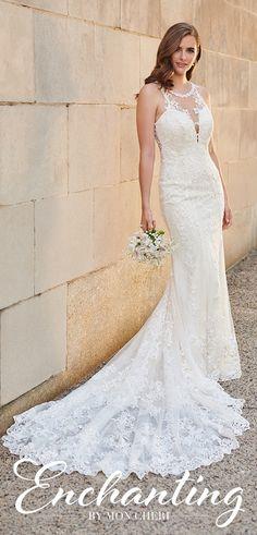 Wedding Dresses Muslim Wedding dress by Enchanting by Mon Cheri - 120164 Maggie Sottero Wedding Dresses, Princess Wedding Dresses, Best Wedding Dresses, Bridal Dresses, Tulle Dress, Lace Dress, Sheath Wedding Gown, Fit And Flare Wedding Dress, Gorgeous Wedding Dress