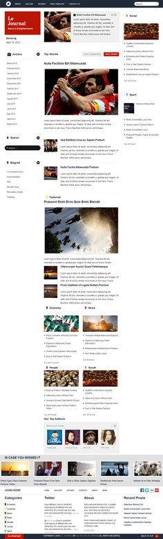 Content friendly news and magazine style premium WordPress theme from ColorLabs