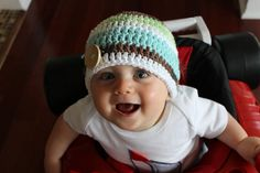 Crocheted Cotton Button Hat  NEWBORN  by JacquelynVaccaro on Etsy, $15.00