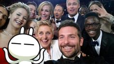 Sorry guys, really can't stop ourselves from playing around with the Oscar selfie... :P #oscar #selfie #tuzki