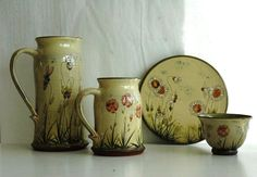 2013 Argilla France. International pottery fair. Earthenware. Pitcher. Plate. Bowl
