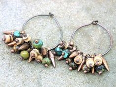 Ladies Bronze Hubei Turquoise Bamboo Wood and Copper by Mojowoman, $25.00