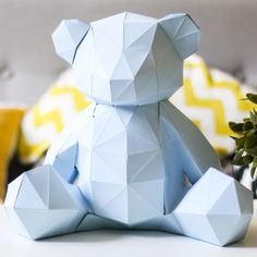 panda en papier 3d t tes d 39 animaux en papier pinterest animaux en papier idee deco et en t te. Black Bedroom Furniture Sets. Home Design Ideas