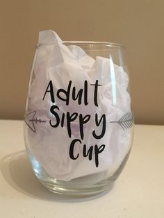 Wine Glass Adult Sippy Cup, Adult Sippy Cup, Wine glass, Arrow sippy cup, adult … - Best Do It Yourself (DIY) Ideas 2019