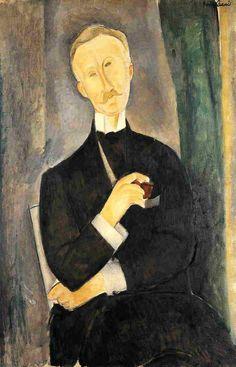 Амедео Модильяни -  Роже Дютье  (1919) -  Частная коллекция