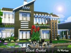 Black Orchid is a luxury modern house built on 40x30 lot in Newcrest. Found in TSR Category 'Sims 4 Residential Lots'