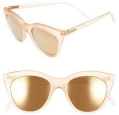 Women's Le Specs Halfmoon Magic 51Mm Cat Eye Sunglasses - Raw Sugar