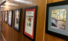 "The Las Vegas Review Journal, the largest circulating daily newspaper in Nevada, has placed Mario's front cover from Luxury Las Vegas Magazine's ""Art, Innovation and Design"" Issue in its main hallway. Congratulations to Mario for having his cover hanging along side some of the most iconic covers in the last 25 years."