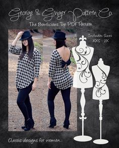 The Bowlicious Top Women's Sizes PDF Sewing par GeorgeandGingerCo