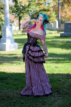 CANDY CARNIVALE Steampunk Victorian Gothic Burlesque Governess Skirt & Bustle Carnivale Couture Theatrical Costume Victorian Circus - Lovechild Boudoir